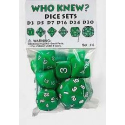 Who Knew? Dice Set - Green...
